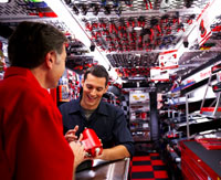 A look inside the Mobile Snap-on Store.