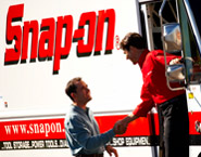 Photo of two Snap-on franchise owners