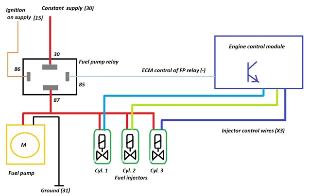 wiring diagram for fuel pump relay   34 wiring diagram